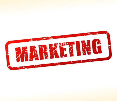 Illustration of marketing text buffered on white background