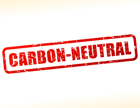 Illustration of carbon neutral text buffered on white background Çizim