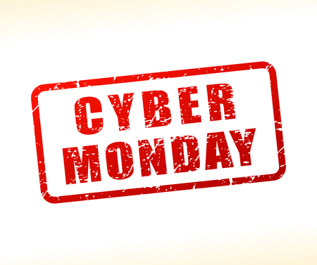Illustration of cyber monday text buffered on white background
