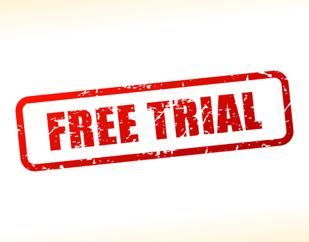 Illustration of free trial text buffered on white background Çizim