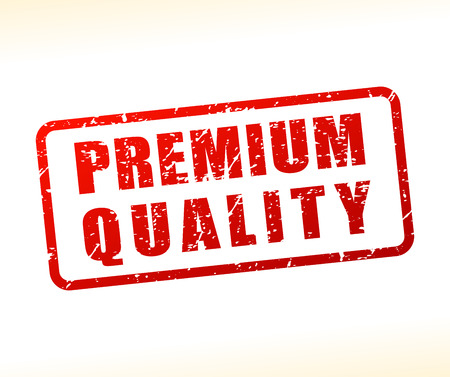 Illustration of premium quality text buffered on white background Çizim