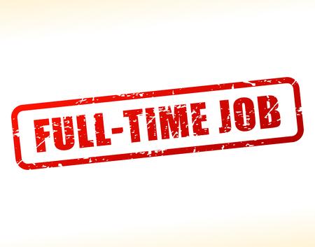 Illustration of full time job text