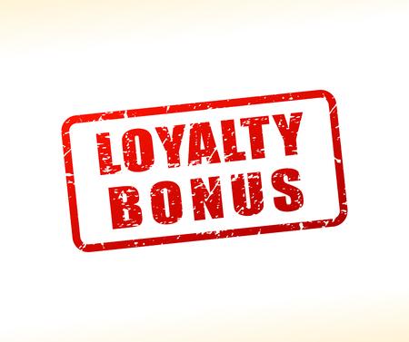 Illustration of loyalty bonus text buffered on white background