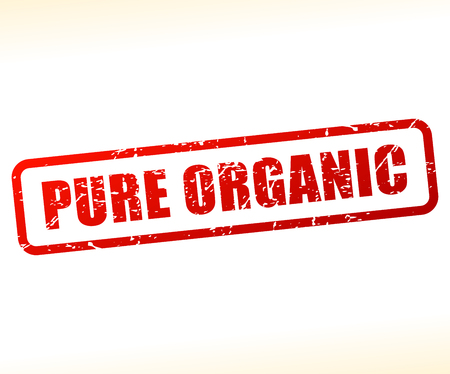 Illustration of pure organic text buffered on white background