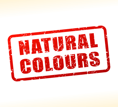 Illustration of natural colours text buffered on white background