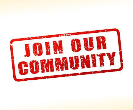 Illustration of join our community text