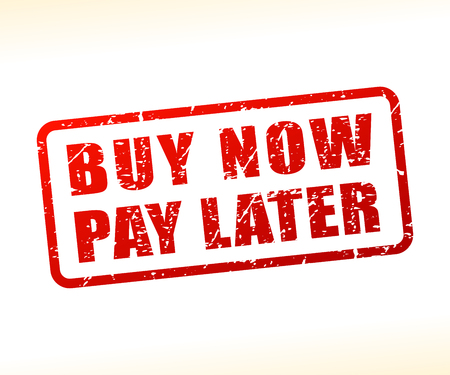 Illustration of buy now pay later text