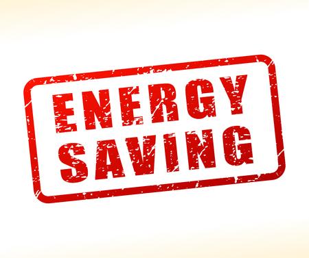 Illustration of energy saving text buffered on white background