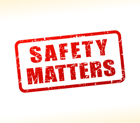 Illustration of safety matters text buffered on white background Çizim
