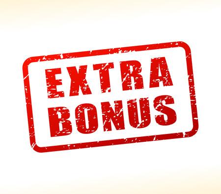 Illustration of bonus text buffered on white background Çizim