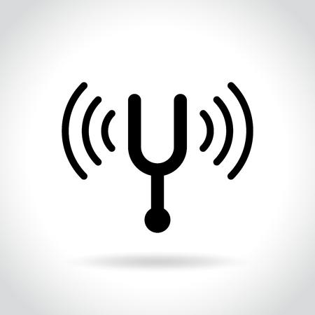 Illustration of tuning fork icon