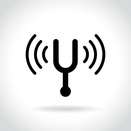 Illustration of tuning fork icon