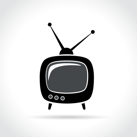 Illustration of retro tv icon