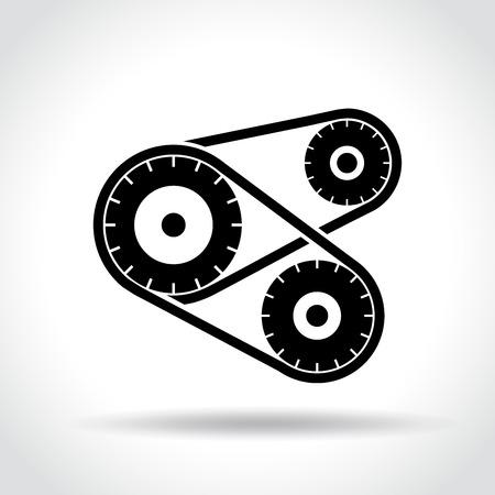 Illustration of mechanism icon on white background