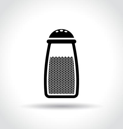 salt free: Illustration of seasoning bottle icon on white background Illustration