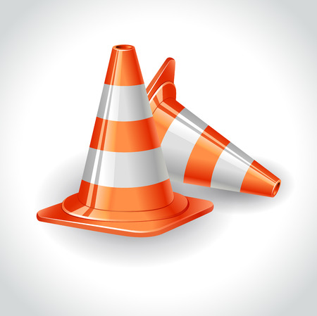 Illustration of cones icon on white background