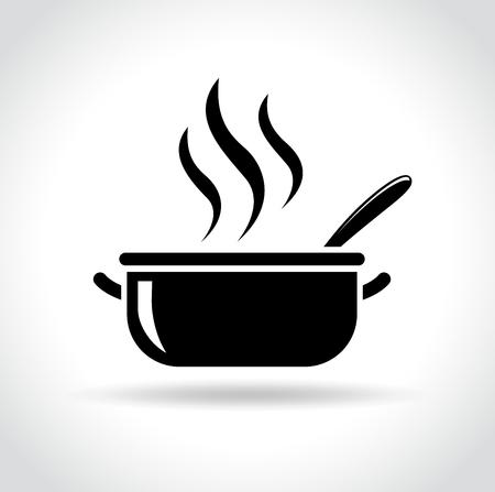 Illustration of pot icon on white background