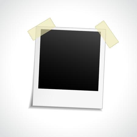 Illustration of blank photo on white background