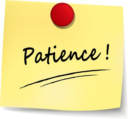 Illustration of patience text concept written Ilustração