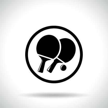 Illustration of table tennis icon on white background