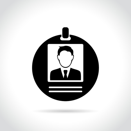 Illustration of man badge icon on white background