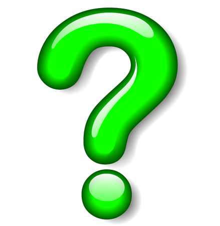 Illustration of question mark green icon on white background Çizim