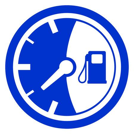 Fuel gauge icon illustration.