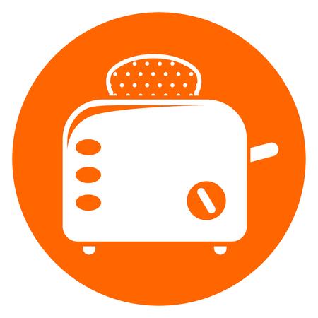 Bread toaster icon illustration.