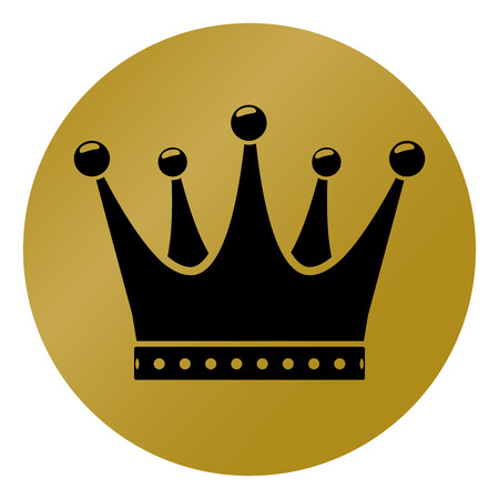 Illustration of crown circle icon concept