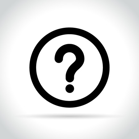Illustration of question mark icon.