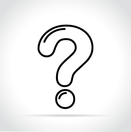 Illustration of question mark icon on white background Çizim