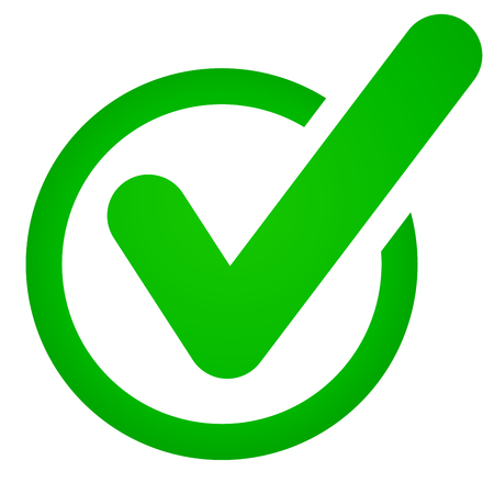Illustration of green check mark icon on white background.