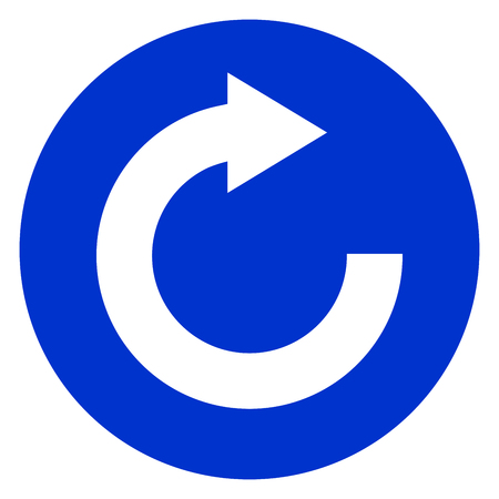 Illustration of reload blue circle icon