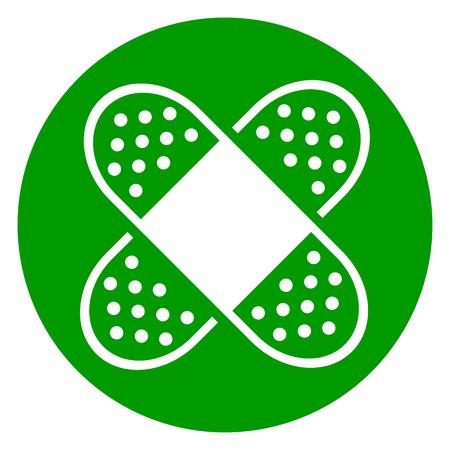 Illustratie van het groene pictogram van de verbandcirkel Stock Illustratie