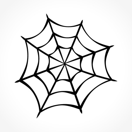 Illustration of spider web on white background Illustration
