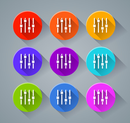 Illustration of adjustment icons with various colors Illustration