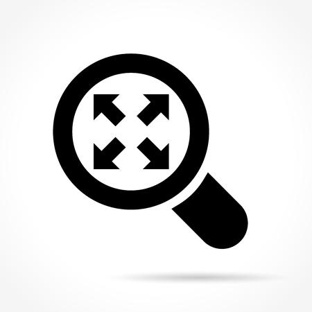Illustration of enlarge icon on white background. Ilustração