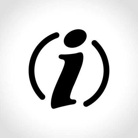 Illustration of information icon on white background.