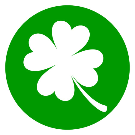 Illustration of clover green circle icon Illustration
