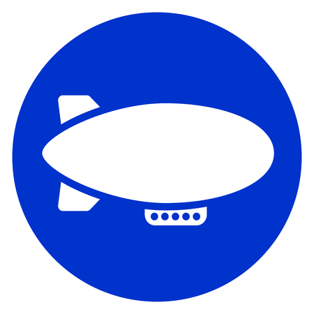 Illustration of airship blue circle icon. Stok Fotoğraf - 88111273