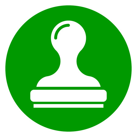 Illustration of stamp green circle icon. Illustration