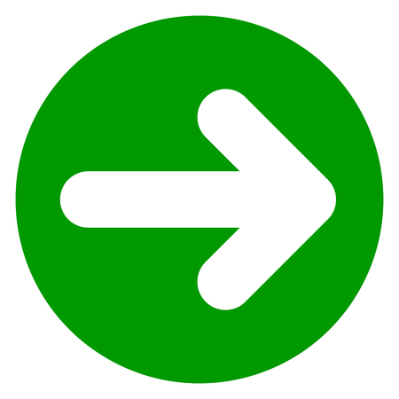 go back: Illustration of arrow green circle icon.
