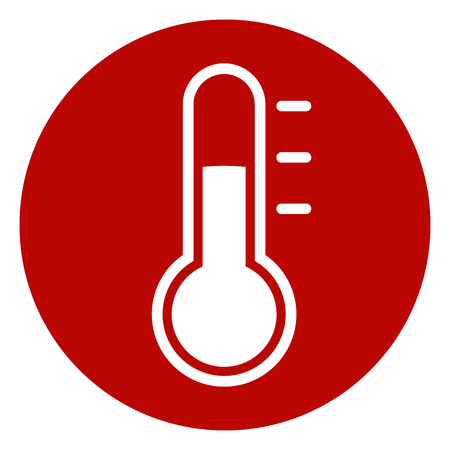 Illustration of thermometer circle icon design. Illustration