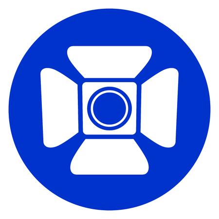 Illustration de l'icône de cercle bleu spotlight. Banque d'images - 88111619