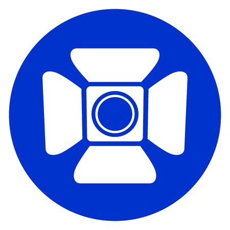 Illustration of spotlight blue circle icon. Illustration