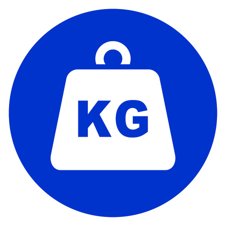 Illustration of weight blue circle icon