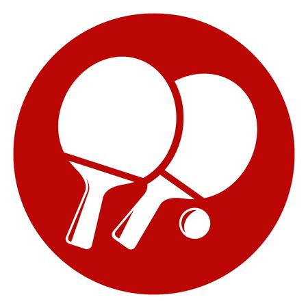 Illustrazione di icona di cerchio di ping-pong Archivio Fotografico - 88320052