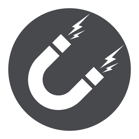 Illustration of magnet circle icon concept