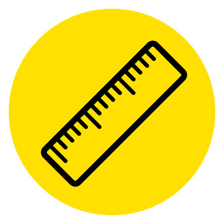 Illustration of circle yellow ruler icon Illustration