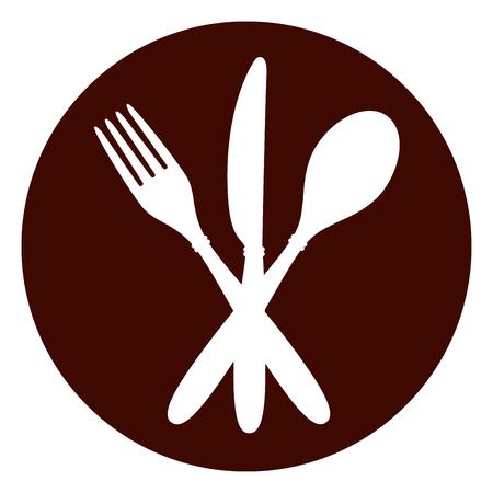 Illustration of restaurant circle icon concept